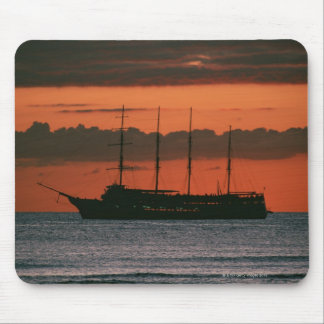 Sunset and Ship Mouse Mat