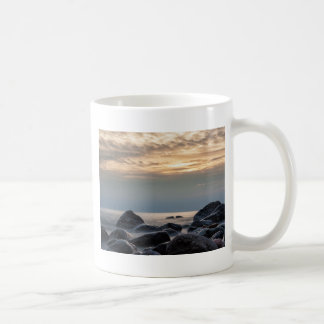 Sunset and stones on the Baltic Sea coast Basic White Mug