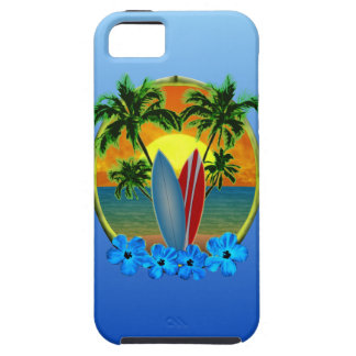 Sunset And Surfboards Case For The iPhone 5