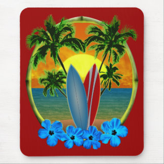 Sunset And Surfboards Mouse Mat