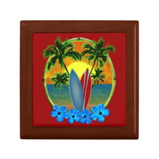 Sunset And Surfboards Small Square Gift Box