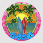 Sunset And Surfboards Sticker