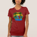 Sunset And Surfboards Tee Shirt