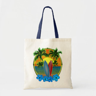 Sunset And Surfboards Tote Bag