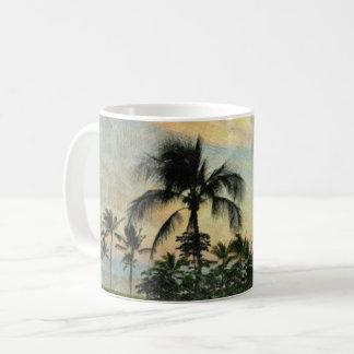 Sunset and Tropical Trees Coffee Mug