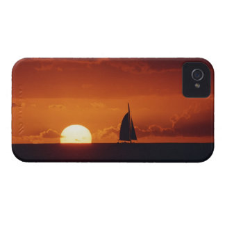 Sunset and Yacht 2 iPhone 4 Case