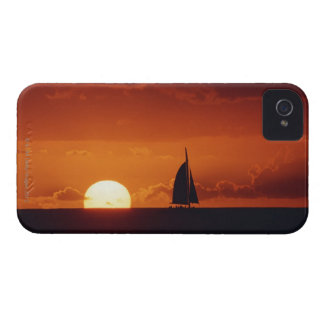 Sunset and Yacht 2 iPhone 4 Case-Mate Case