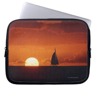Sunset and Yacht 2 Laptop Sleeve