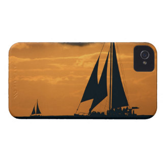 Sunset and Yacht iPhone 4 Case-Mate Cases