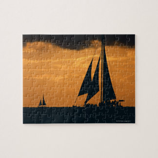 Sunset and Yacht Jigsaw Puzzle