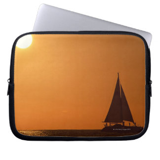 Sunset and Yacht Laptop Sleeve