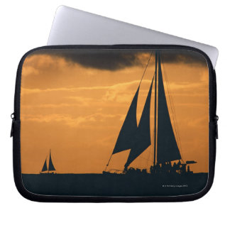 Sunset and Yacht Laptop Sleeves