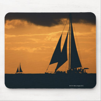 Sunset and Yacht Mouse Pad