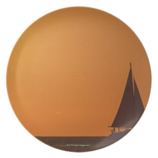Sunset and Yacht Plate