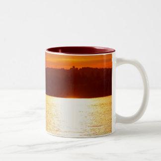 Sunset Anglers Two-Tone Mug