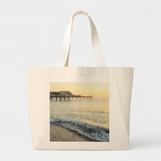 Sunset at Aberystwyth Large Tote Bag