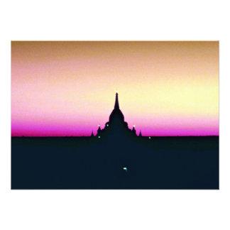 Sunset at Ananda Temple, Pagan Custom Invites