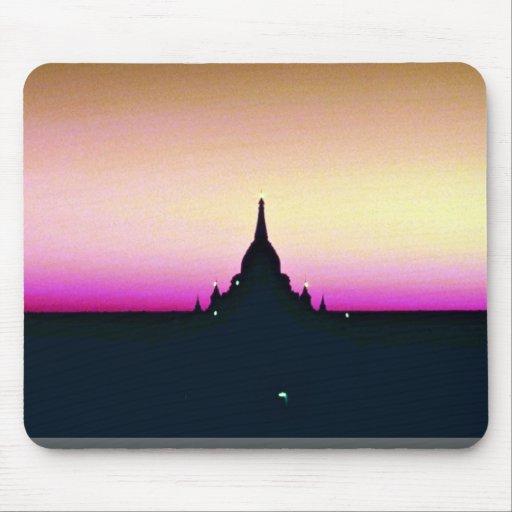 Sunset at Ananda Temple, Pagan Mousepad