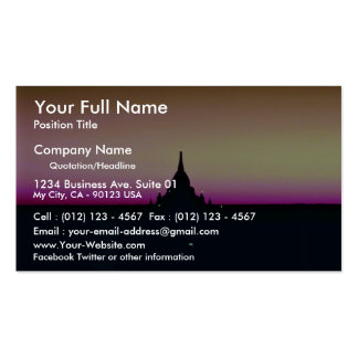 Sunset at Ananda Temple, Pagan Pack Of Standard Business Cards