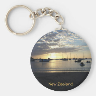 Sunset at Anchorage, Kawau Island, New Zealand Key Ring