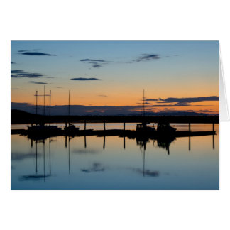 Sunset at Antelope Island, UT Card