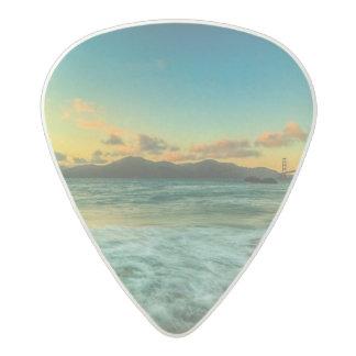 Sunset at Baker Beach Acetal Guitar Pick
