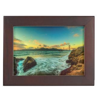 Sunset at Baker Beach Keepsake Box