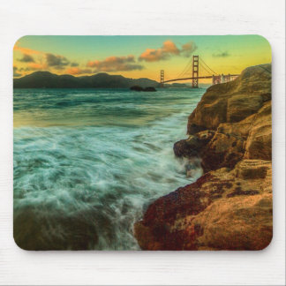Sunset at Baker Beach Mouse Pad