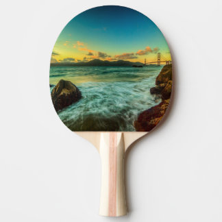 Sunset at Baker Beach Ping Pong Paddle