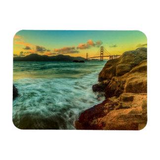 Sunset at Baker Beach Rectangular Photo Magnet
