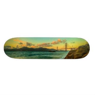 Sunset at Baker Beach Skate Deck