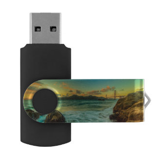 Sunset at Baker Beach USB Flash Drive