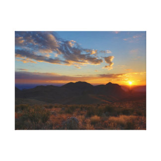 Sunset at Big Bend National Park Gallery Wrapped Canvas