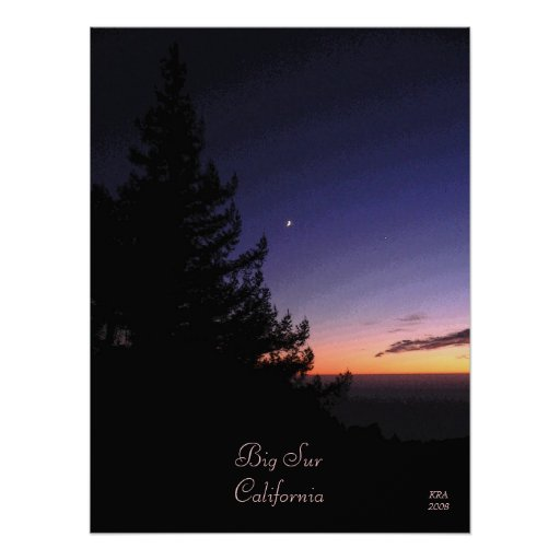 Sunset at Big Sur by Katiamaria Photos & Design TM Poster
