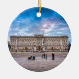 Sunset at Buckingham Palace, London Round Ceramic Decoration