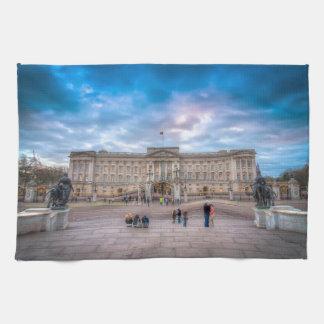Sunset at Buckingham Palace, London Tea Towel