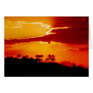 Sunset at California Postage Stamp Greeting Card