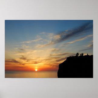 Sunset at Capo Caccia, Alghero, Sardinia, Italy Poster