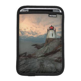 Sunset At Castle Hill Lighthouse iPad Mini Sleeve