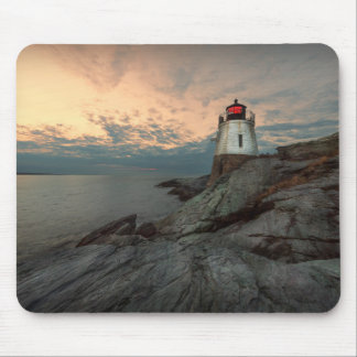 Sunset At Castle Hill Lighthouse Mouse Mat