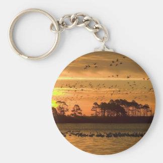 Sunset at Chincoteague Key Ring