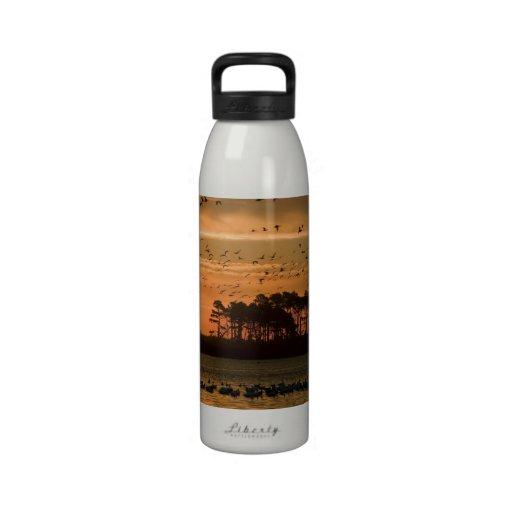 Sunset at Chincoteague National Wildlife Refuge Water Bottle