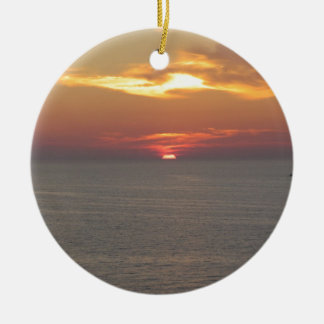 Sunset at Clearwater Christmas Ornament