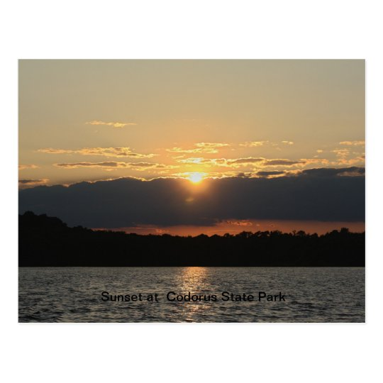 Sunset at Codorus State Park Postcard