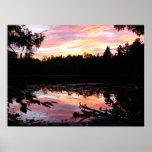 sunset at farr lake print