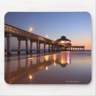 Sunset at Fishing Pier, Fort Myers Beach, Mouse Mat