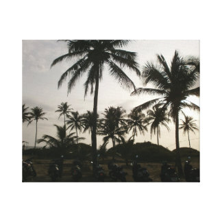 Sunset at Goa Beach in India Stretched Canvas Prints