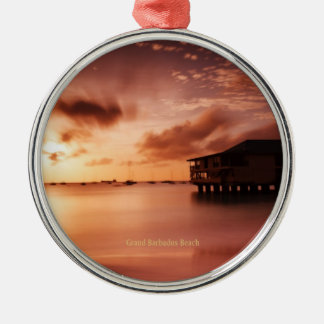 Sunset at Grand Barbados Beach Christmas Ornament