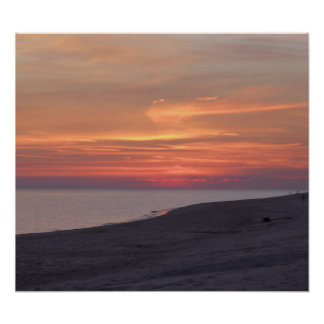 sunset at gulf shores alabama poster