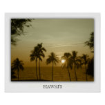 Sunset at hapuna beach, Hawaii Poster